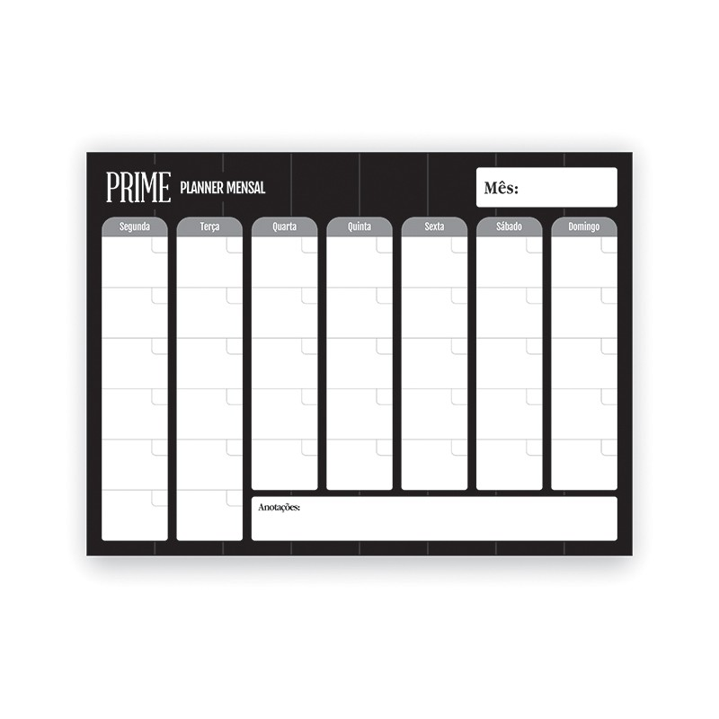 Bloco Planner De Mesa Mensal Prime - Redoma