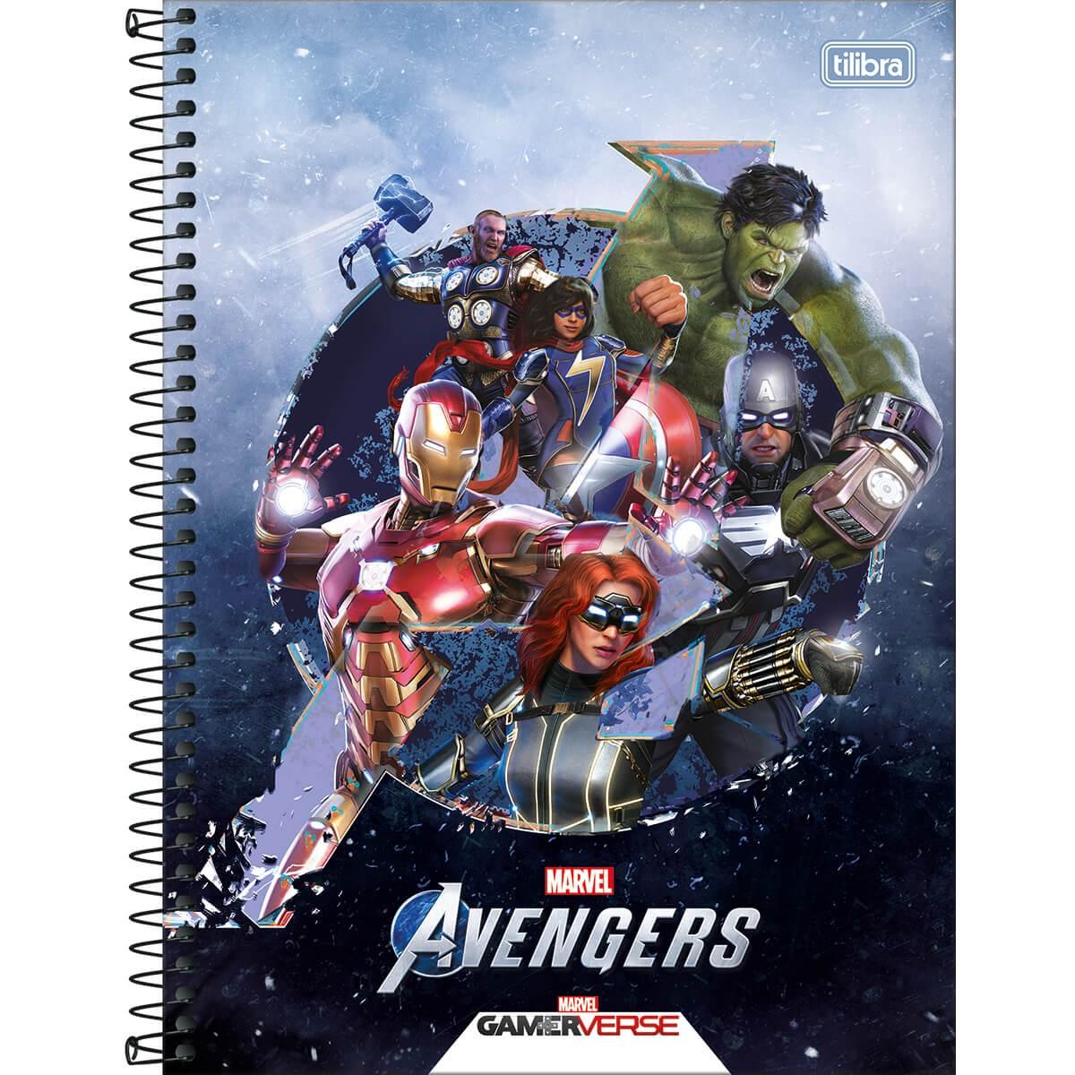 Caderno Universitário Avengers Gamerverse 1 Matéria 80 Fls - Tilibra