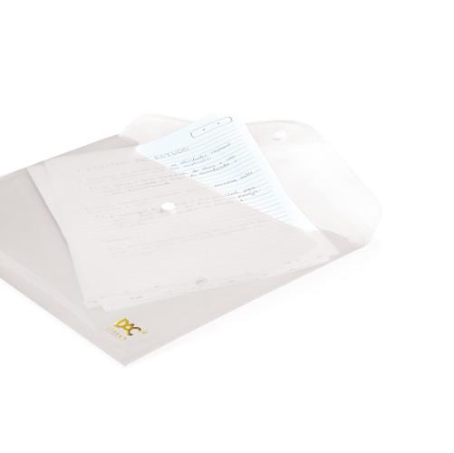 Pasta malote com botão transparente - DAC