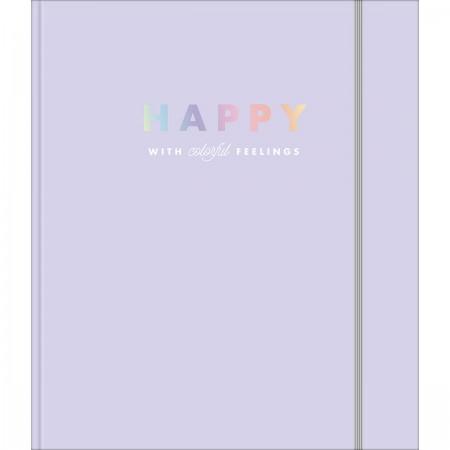 Fichário Colegial Cartonado Com Elástico Happy - Tilibra