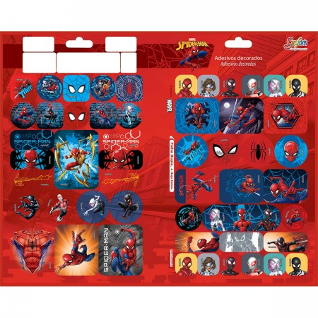 Adesivo Spider Man Metalizado - Tilibra