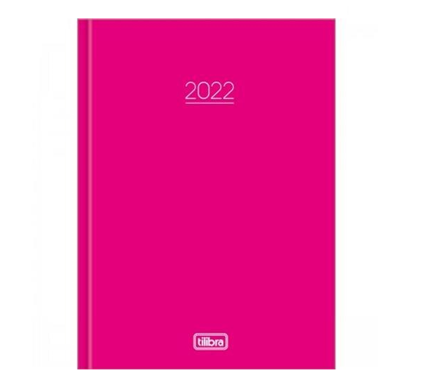 Agenda 2022 Espiral Pepper Rosa - Tilibra