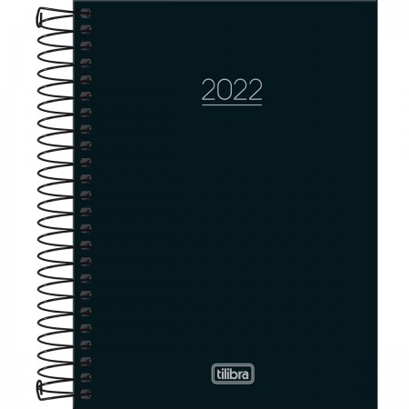 Agenda Diária Pepper Preta 2022 - Tilibra