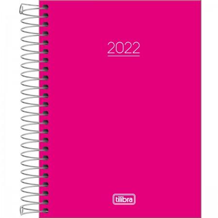 Agenda Espiral Pepper Rosa 2022 - Tilibra