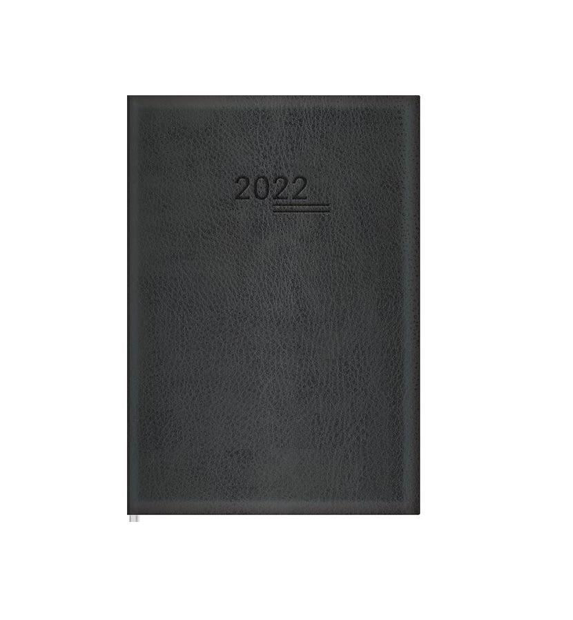 Agenda Executiva Costurada Torino 2022 Preta - Tilibra