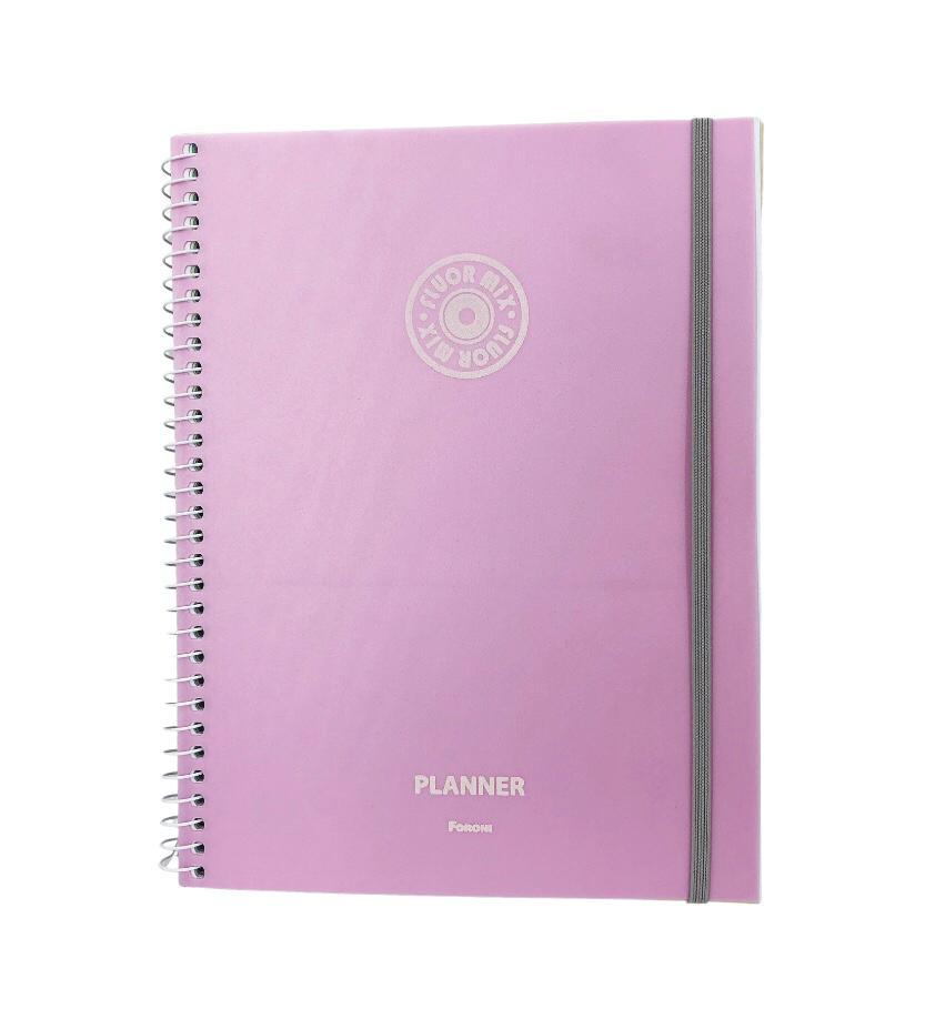 Agenda Planner Espiral Fluor Mix Grande - Foroni