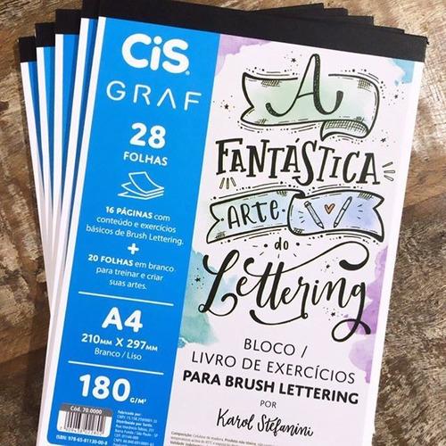 Bloco de Exercícios de Lettering A4 c/ 28 Folhas 180g - cis