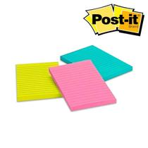 Bloco Post-It® 3M 101x152 mm - 3 Cores c/135 Fls