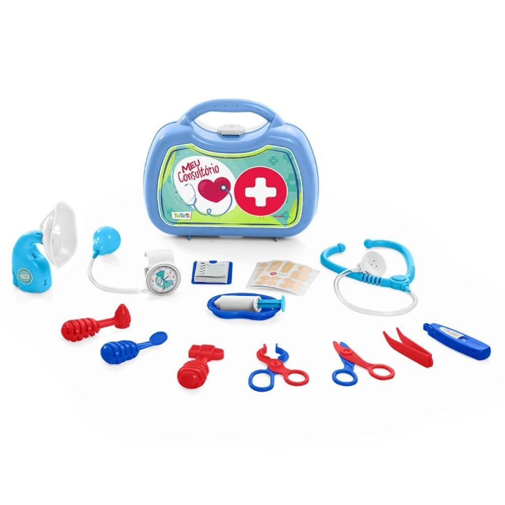 Brinquedo Maleta Azul Médico Meu Consultório Ta Te Ti - Calesita