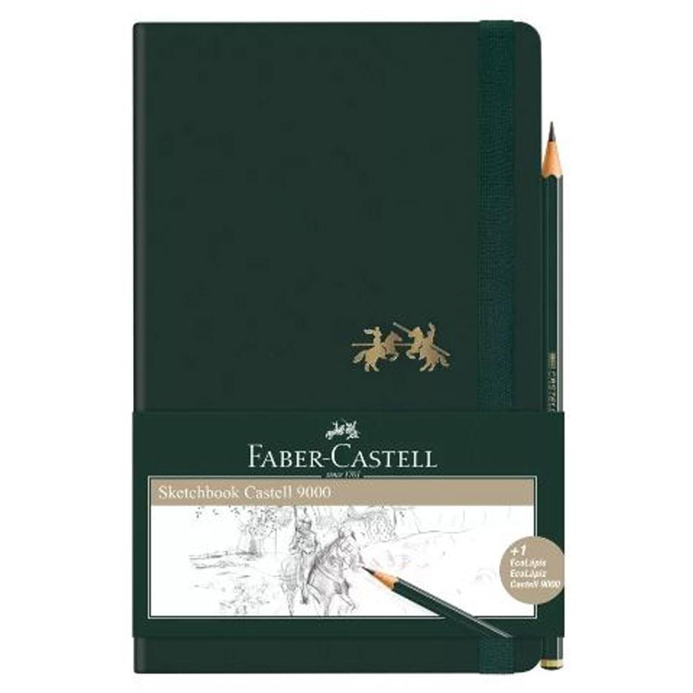 Caderneta Sketchbook S/ Pauta FaberCastell Lápis Regent 9000