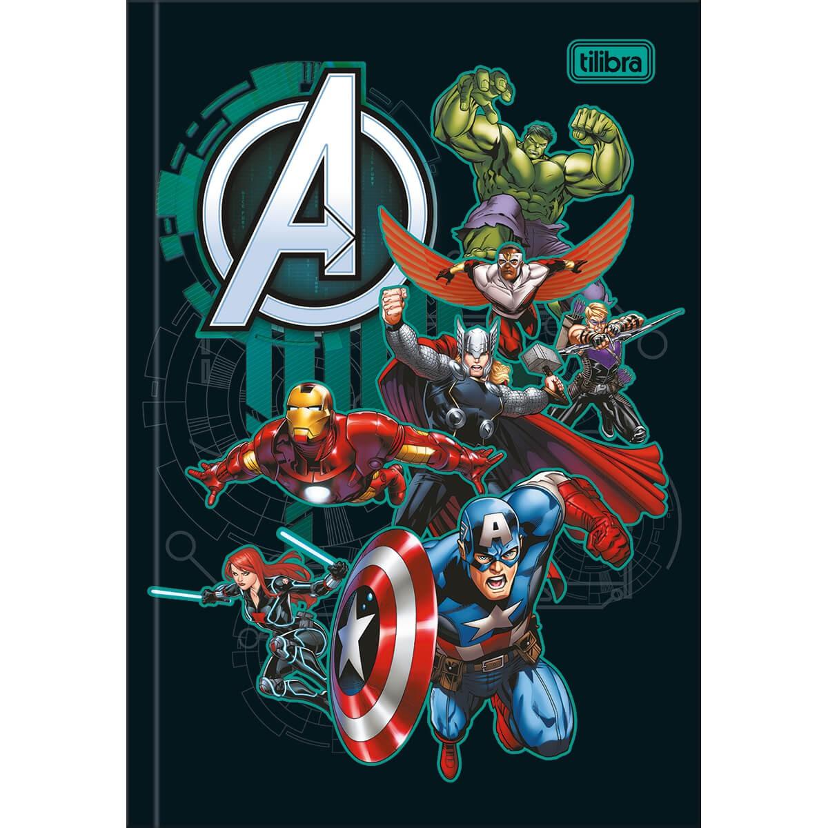 Caderno Brochura 1/4 Capra Dura Avengers 48 Folhas - Tilibra