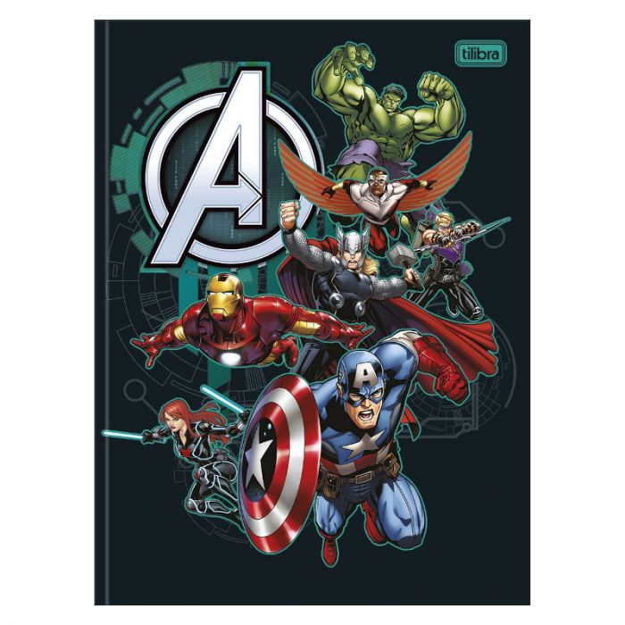Caderno Brochura Avengers ABS 80fls - Tilibra