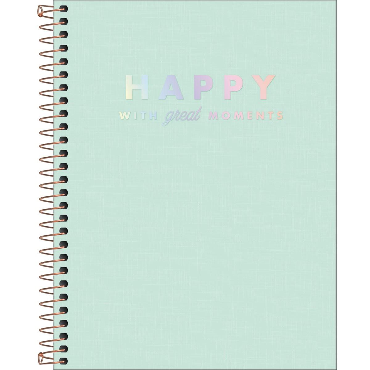 Caderno Colegial Happy Verde 1 Matéria - Tilbra