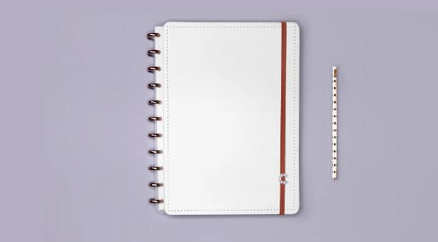 Caderno Inteligente All White Grande - Caderno Inteligente