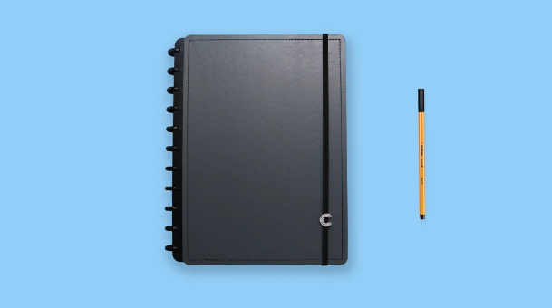 Caderno Inteligente Basic Grey - Grande