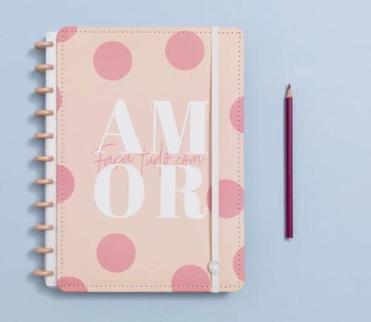 Caderno Inteligente Cor de Rosa - Grande