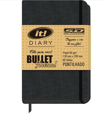 Caderno Quadriculado It Bullet Journal 80 Folhas SD