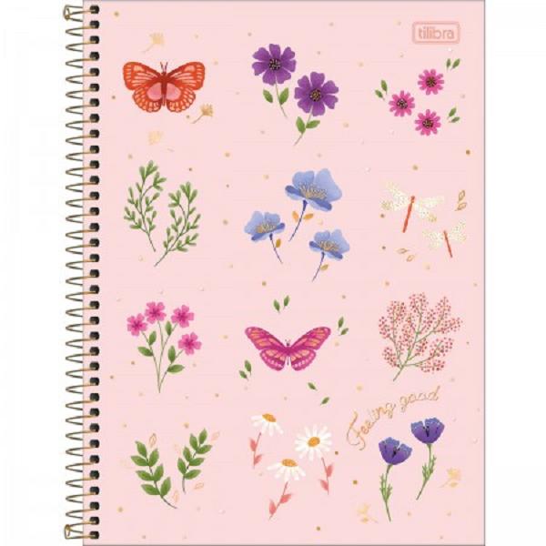 Caderno Universitário 10 Matéria Vanille Flores - Tilibra