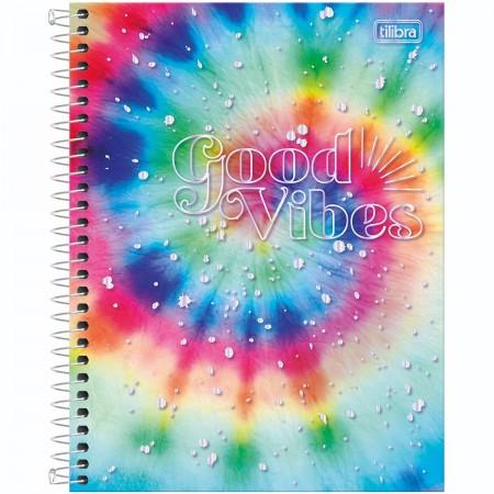 Caderno Universitário 10 Matérias Espiral Good Vibe 160 Folhas - Tilibra