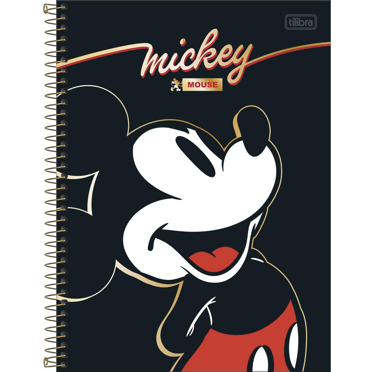 Caderno Universitário 10 Matérias Mickey 160 Folhas - Tilibra