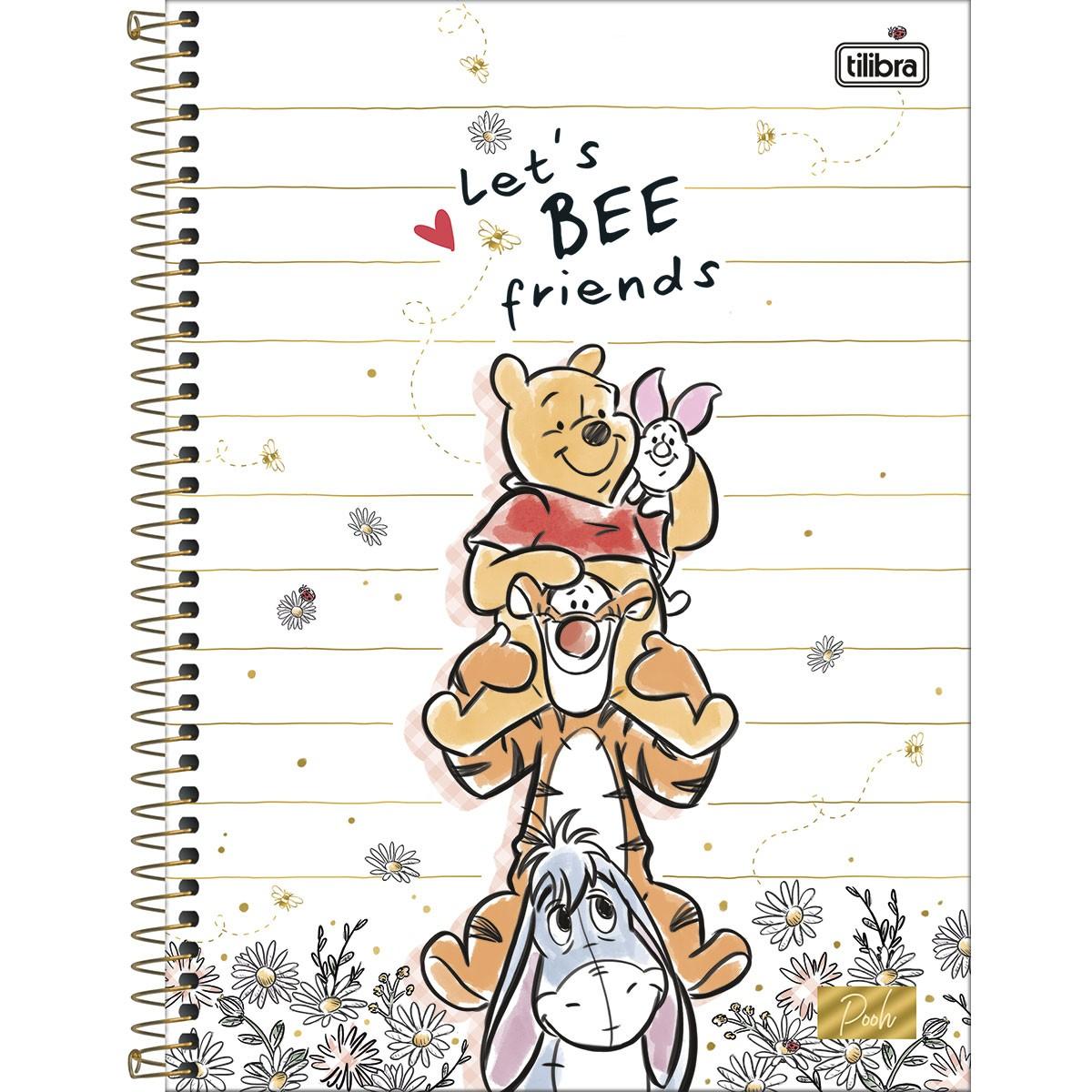 Caderno Universitário 10 Matérias Pooh - Tilibra