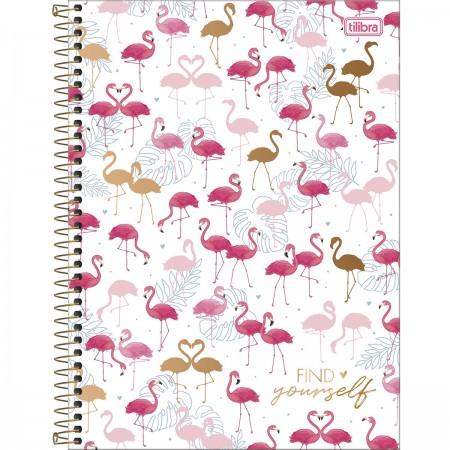 Caderno Universitário Flamingo Aloha 1 Matéria - TILIBRA