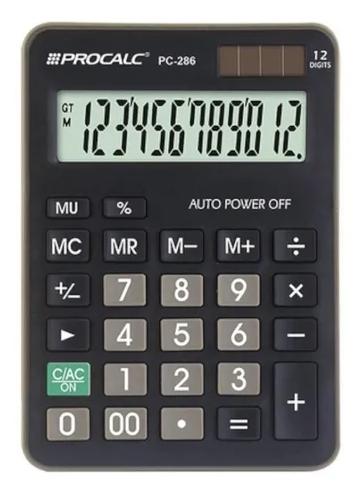 Calculadora 12 dígitos PC286PK - Procalc