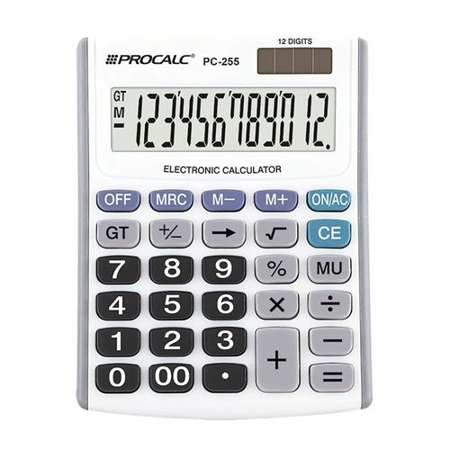 Calculadora de Mesa com Visor Inclinado C/12 Dígitos - Procalc