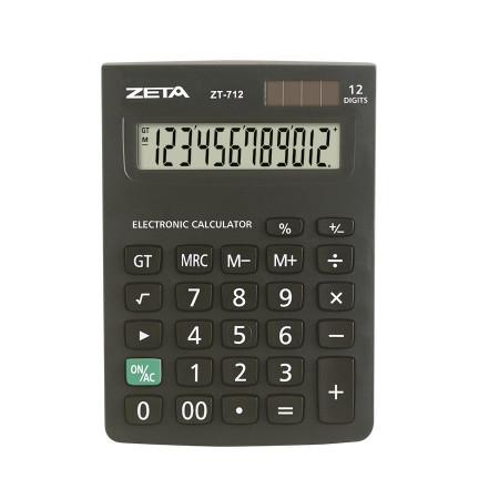 Calculadora de Mesa Escritório 12 Dígitos ZT 712 - Zeta