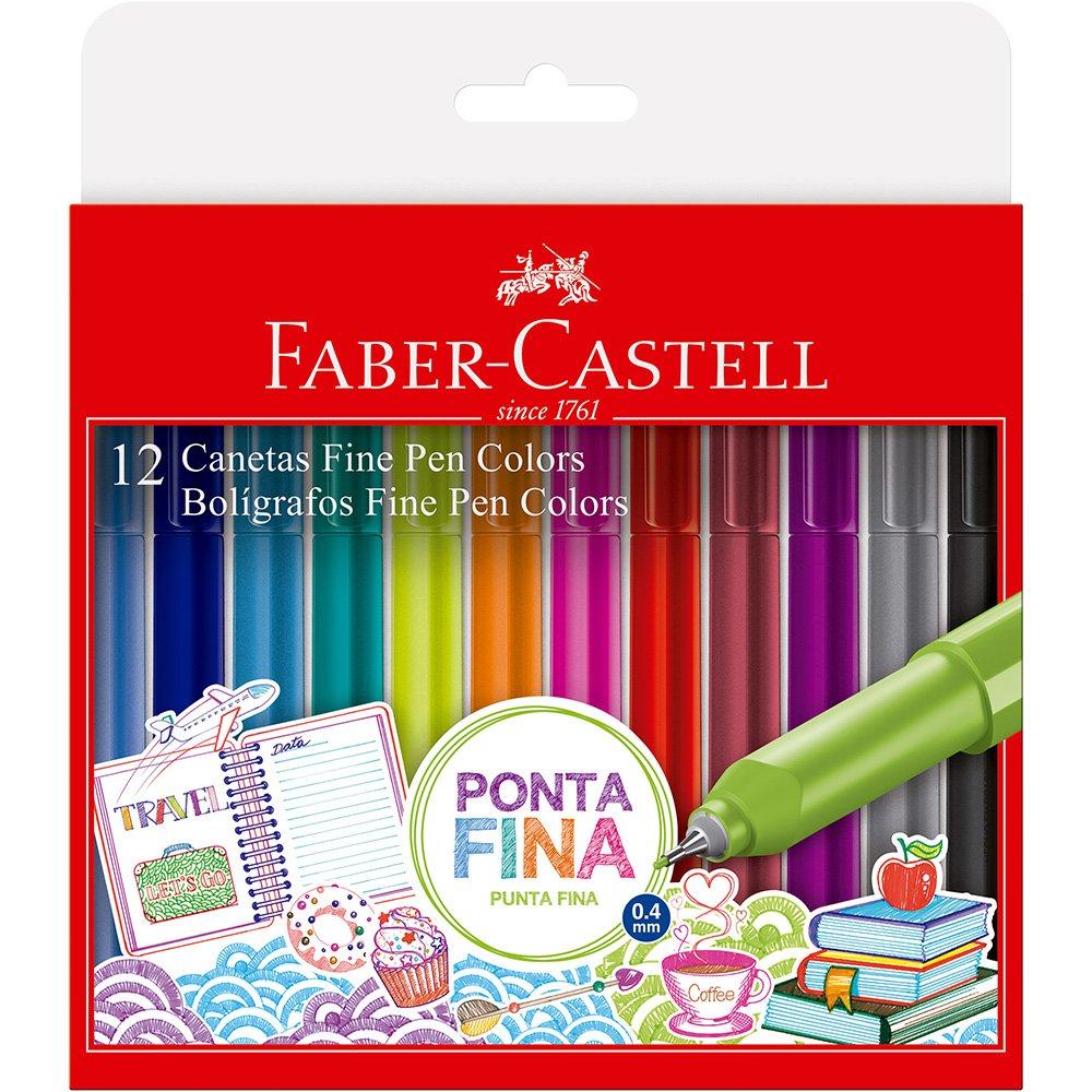 Caneta Fine Pen Colors 0.4 C/12 - Faber Castell