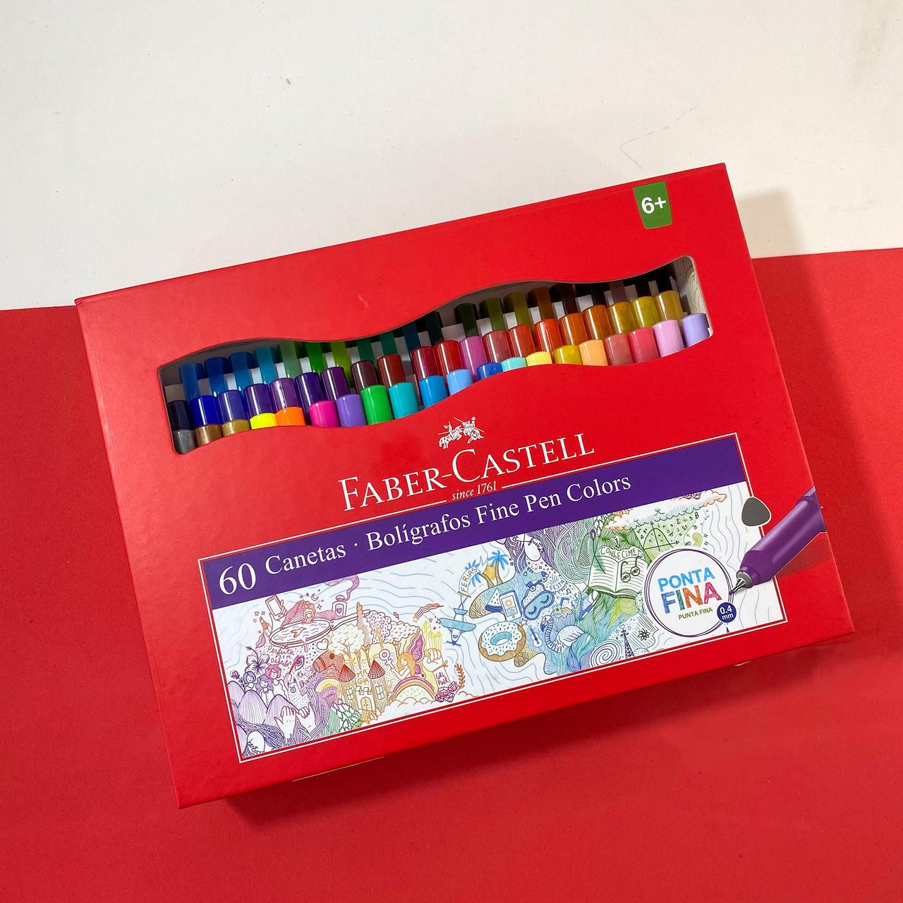 Caneta Fine Pen Colors Com 60 Unidades - Faber Castell
