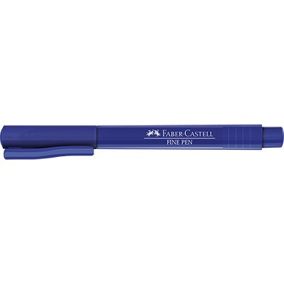 Caneta hidrográfica Fine Pen 0,4mm azul - Faber Castell