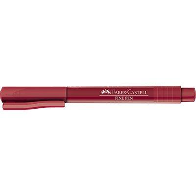Caneta hidrográfica Fine Pen 0,4mm vermelho - Faber-Castell