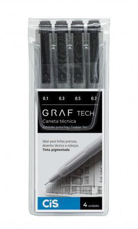 Caneta Técnica Graf Tech Fineliner pen Com 4 - Cis
