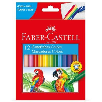 Canetinhas Faber-Castell Coloridas Com 12 Cores