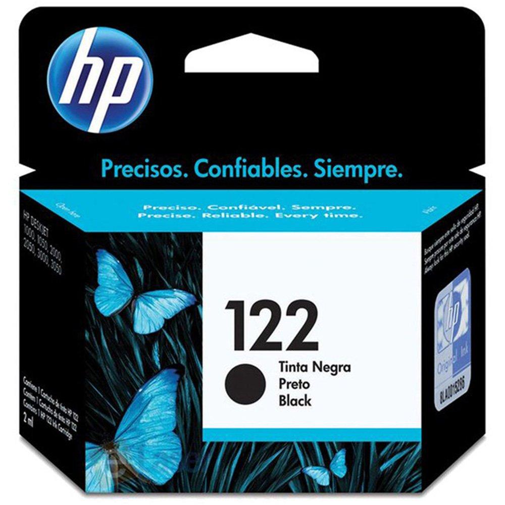 Cartucho 122 CH561HB preto 2ML - HP