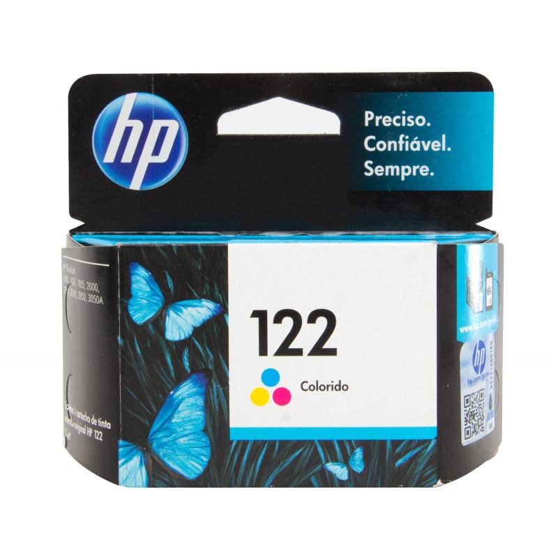 Cartucho 122 CH562HB Colorido 2ML - HP