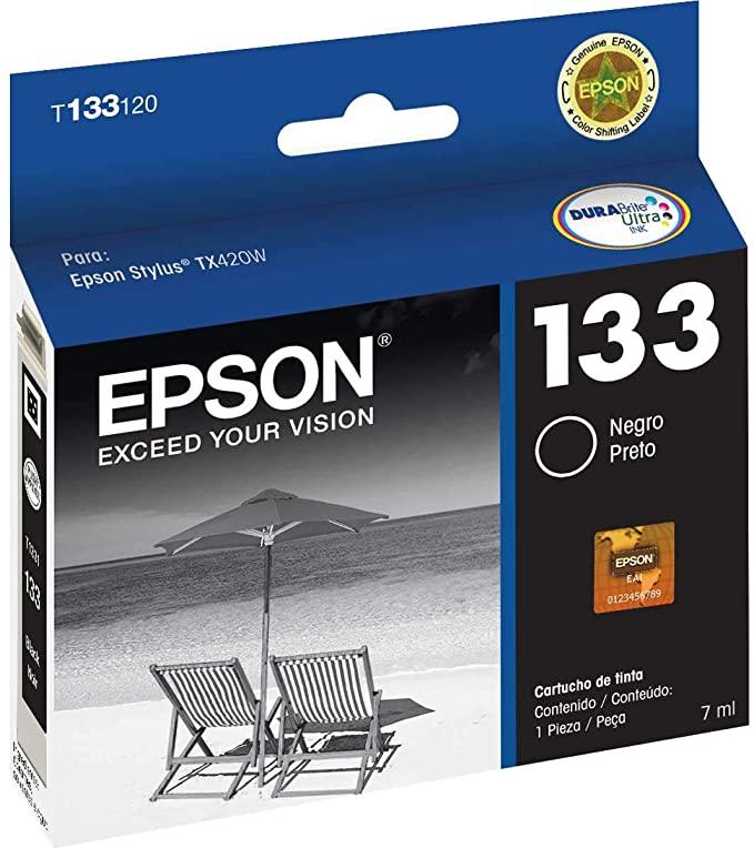 Cartucho 133 T133120A preto 7ML  - Epson