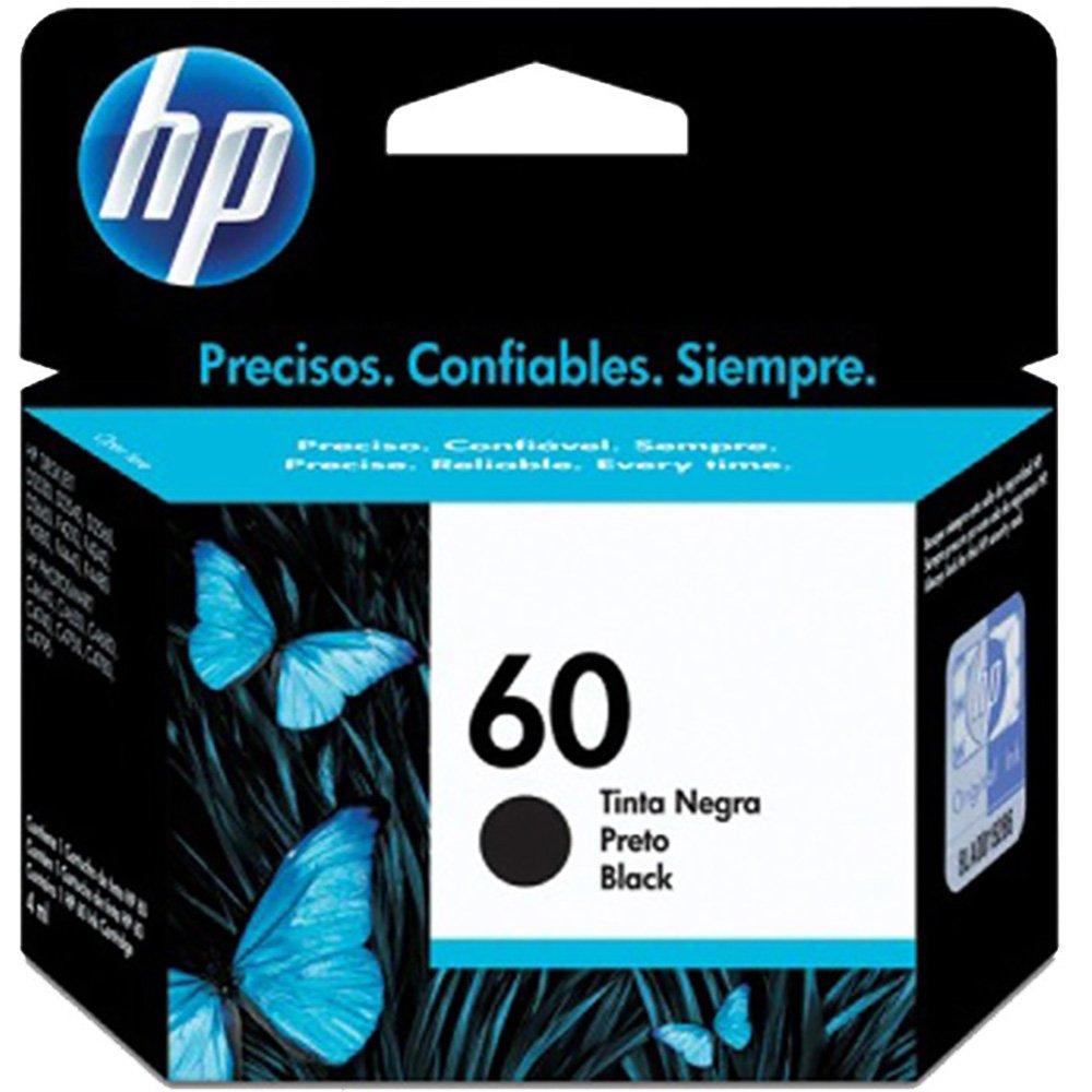 Cartucho 60 CC640WB preto 4ML - HP