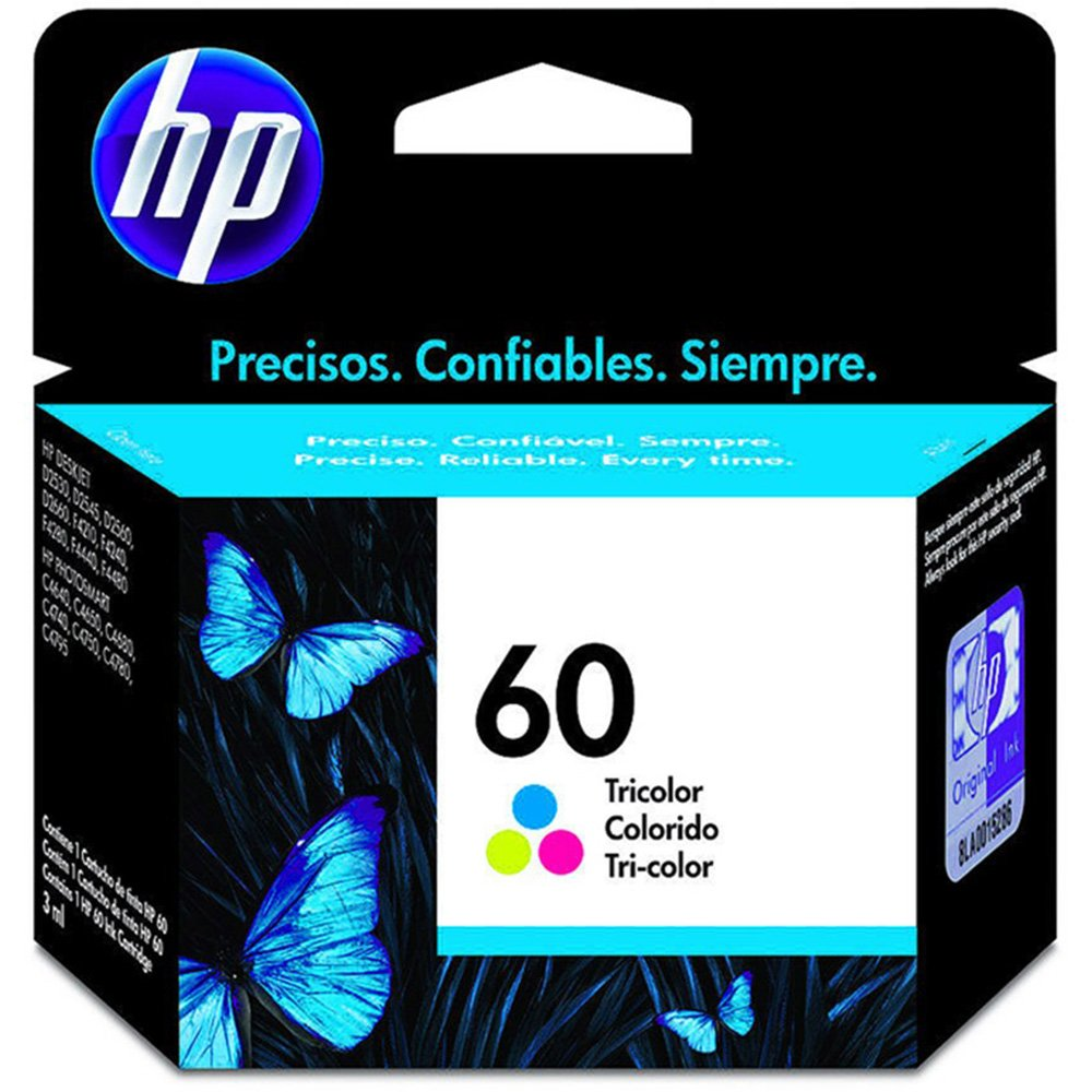 Cartucho 60 Colorido CC643WB 4ML - HP