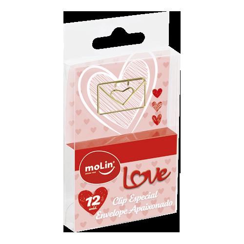 Clip Especial Envelope Apaixonado Com 12 Unid. - Molin