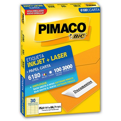 Etiqueta 6180 Com 3.000 Unidades - Pimaco