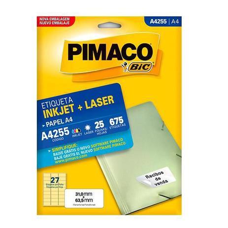 Etiqueta A4255 - com 675 Etiquetas - Pimaco