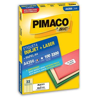 Etiqueta A4356 Com 3300 Etiquetas - Pimaco