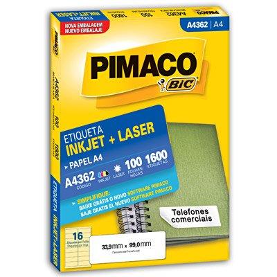 Etiqueta A4362 - com 1600 Etiquetas - Pimaco