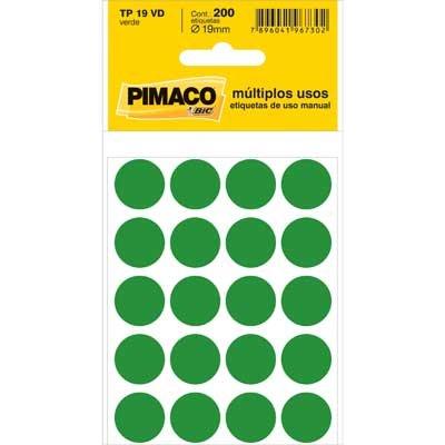 Etiqueta TP-19 Verde Com 200 Unidades Pimaco