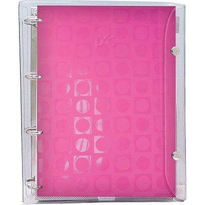 Fichário 1/4 com Botão Basic Cristal Rosa - DAC