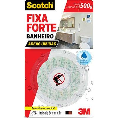 Fita adesiva dupla face Fixa Forte Banheiro
