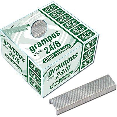 Grampo p/grampeador 24/8 galvanizado Acc