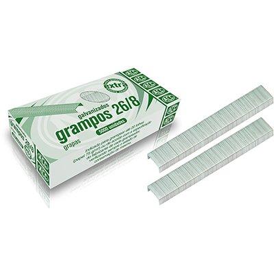 Grampo p/grampeador 26/8 galvanizado Acc